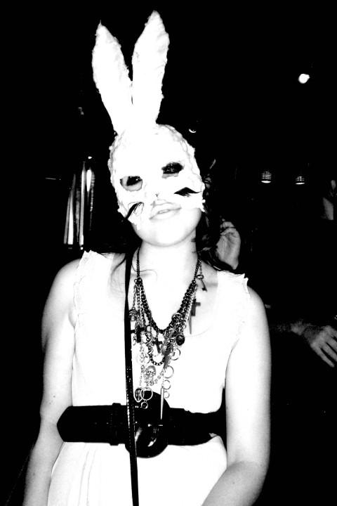 white rabbit mask